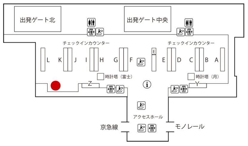 羽田空港 JALABC 出発カウンター