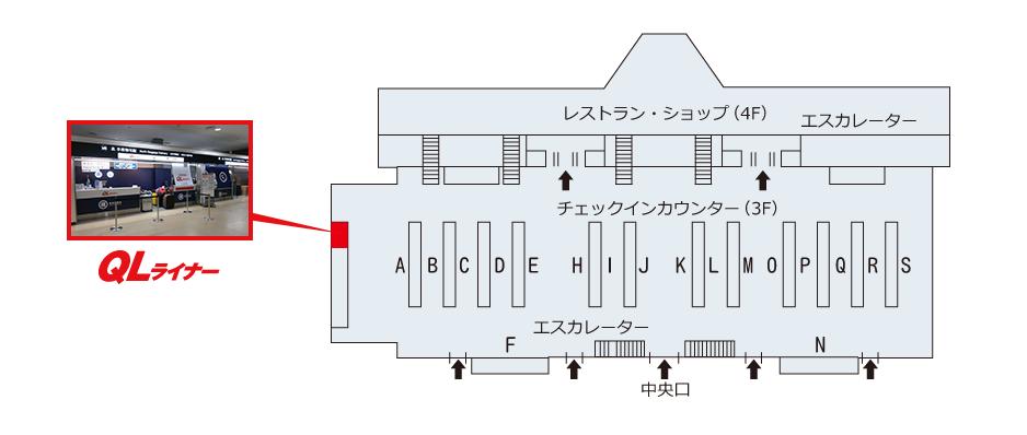 成田空港 第2ターミナルビル 3階