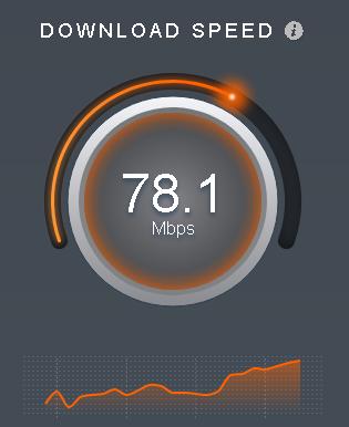 通信速度測定画面(Sourceforge)