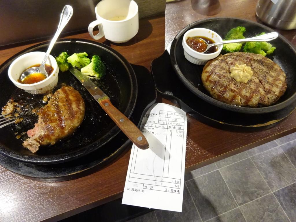 ワイルドハンバーグ2皿