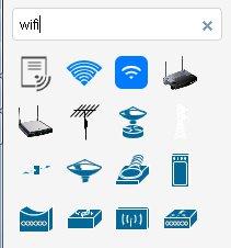 Wi-Fiのステンシル