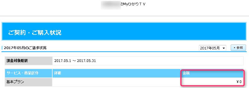 MyひかりTV ご契約・ご購入状況