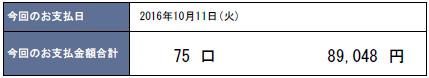 2016年10月支払い:89,048円